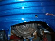 Welds nicely painted in hammerite blue